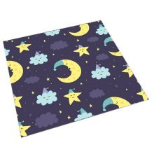 Square Cute Cartoon Children's Rugs, Good Night Multiple Moons And Stars