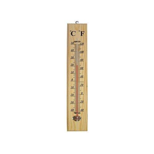 Faithfull FAITHWOODLG Thermometer Wall Wood 400mm