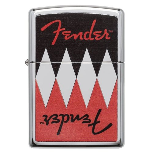 Fender Reflection High Polish Chrome Zippo Lighter