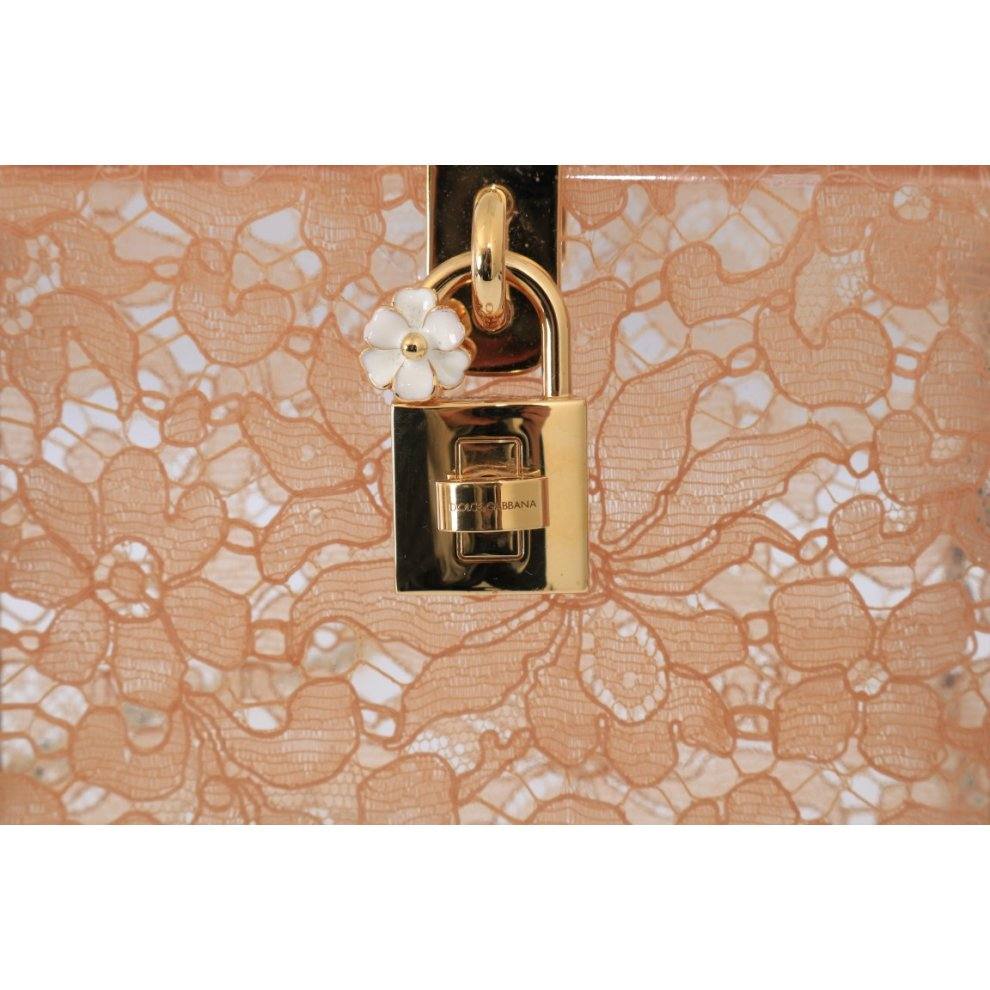46c9800029 ... Dolce & Gabbana Pink Taormina Lace Crystal Clutch Bag - 5. >
