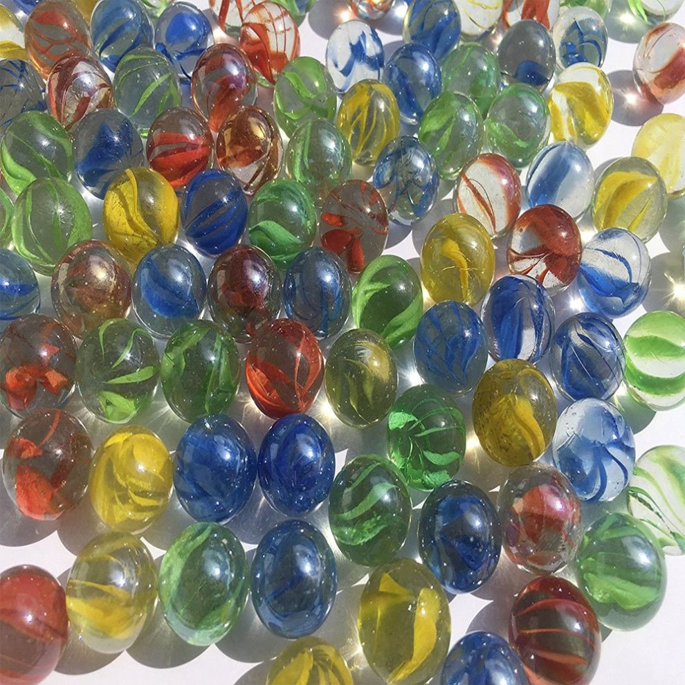 Vientiane Colorful Glass Marbles 420 Pieces Glass Balls Toys 14 Mm
