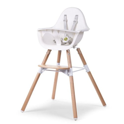 CHILDWOOD 2-in-1 Baby High Chair Evolu 2 White CHEVOCHNW
