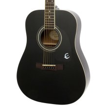Epiphone DR-100 Dreadnought Acoustic Guitar, Ebony