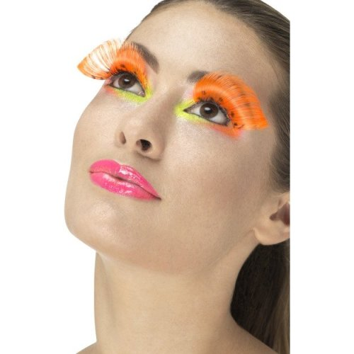 Smiffy's 48093 80's Polka Dot Eyelashes (one Size) -  ladies 80s eyelashes adults disco party fancy dress accessory 70s fake