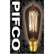 PIFCO ST58 40 Watt B22 Bayonet Vintage Squirrel Cage Retro Light Bulbs