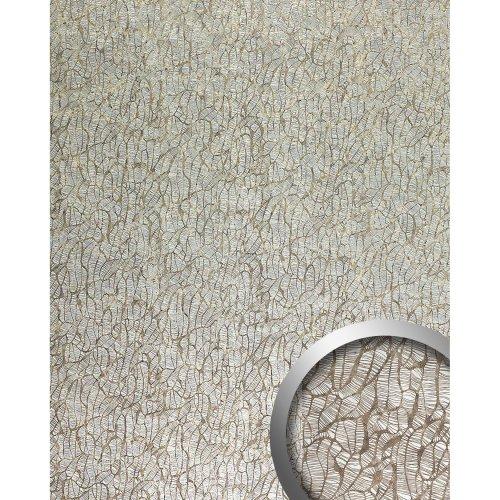 WallFace 17037 DECO MONSOON Wallpanel selfadhesive abstract silver brown 2.6 sqm