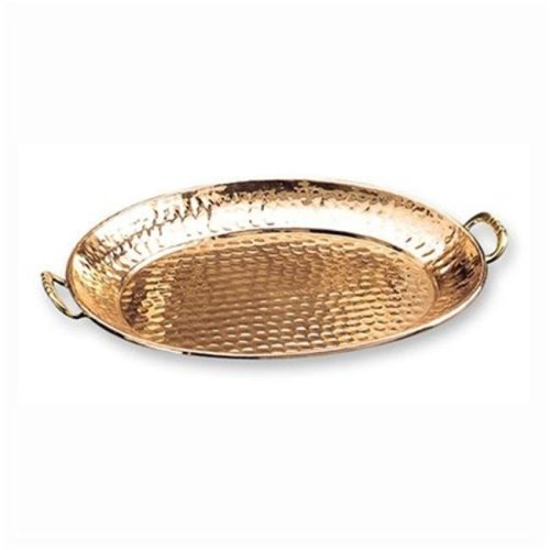 Old Dutch 252 Oval Decor Copper Tray with Cast Brass Handle