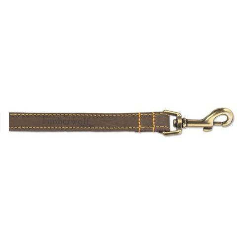 Ancol Timberwolf Leather Dog Lead, 1 m, Sable