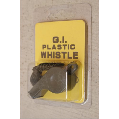 GI Survival Whistle With Neck Rope
