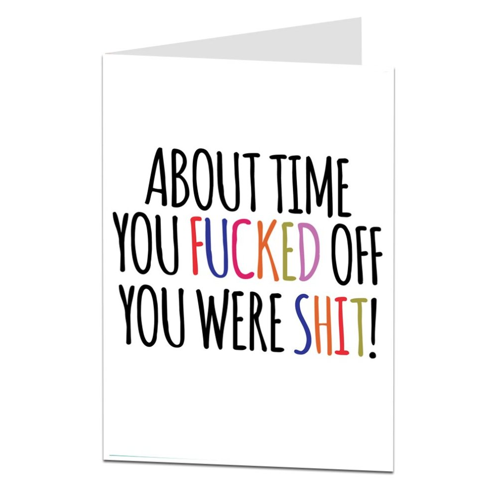 funny sorry your leaving work card good luck in your new