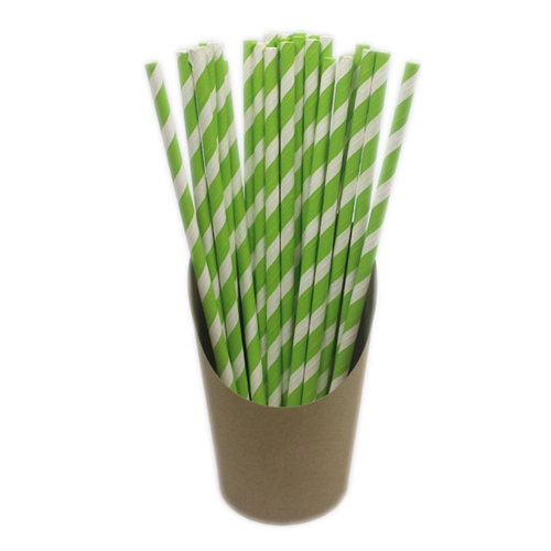 100 Pieces Drinking Straws Disposable Paper Drinking Straws Juice Stirring[B]