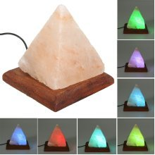 USB Pyramid Air Purifier Salt LED RGB Night Light