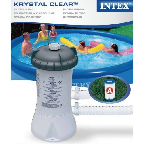Intex Krystal Clear Swimming Pool Filter Pump & Cartridge