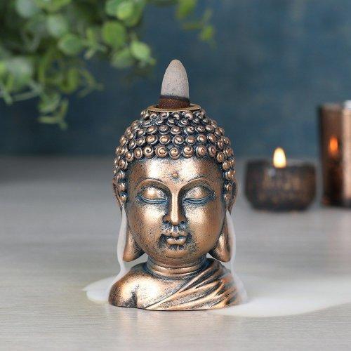 Bronze Buddah Head Backflow Burner