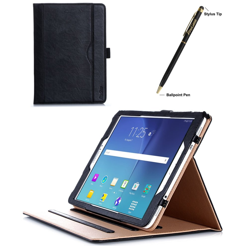 best service 53f59 6b82d ProCase Samsung Galaxy Tab S2 9.7 Case - Leather Stand Folio Case Cover for  Galaxy Tab S2 Tablet (9.7 inch, SM-T810 T815 T813) -Black