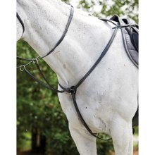 Kincade Raised Padded Fancy Stitch Breastplate With Martingale Attachement