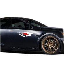17.7''*5.5'' Cool Car Decals Vehicle Door Decals Car Stickers, White Wolf