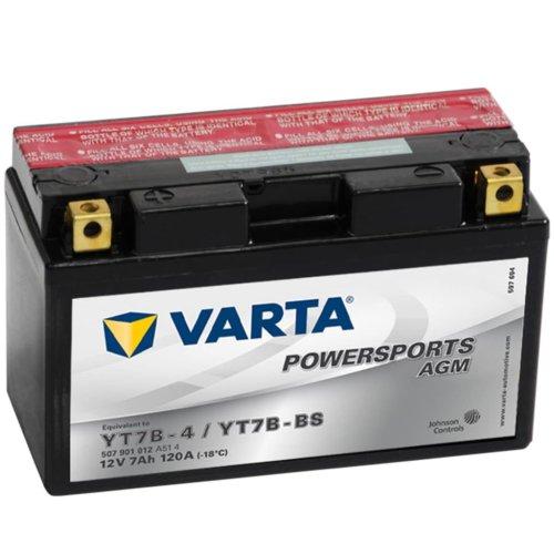 Varta AGM Battery 12 V 7 Ah YT7B-4 / YT7B-BS Anti-leak Maintenance Free