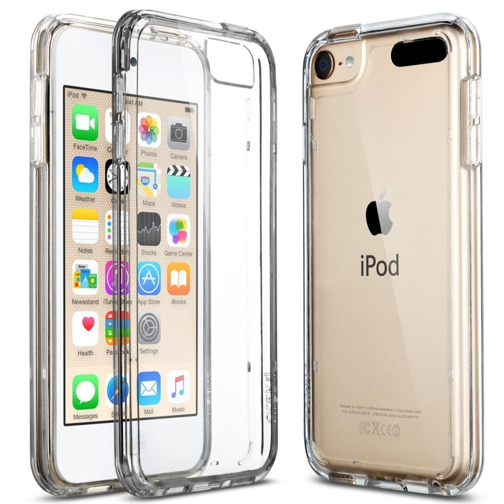 the latest 90541 f57fe iPod Touch 5/6th Case, ULAK CLEAR SLIM Transparent iPod Touch Case Soft  Flexible Thin Gel TPU Skin Scratch-Proof Case Cover for Apple iPod Touch...