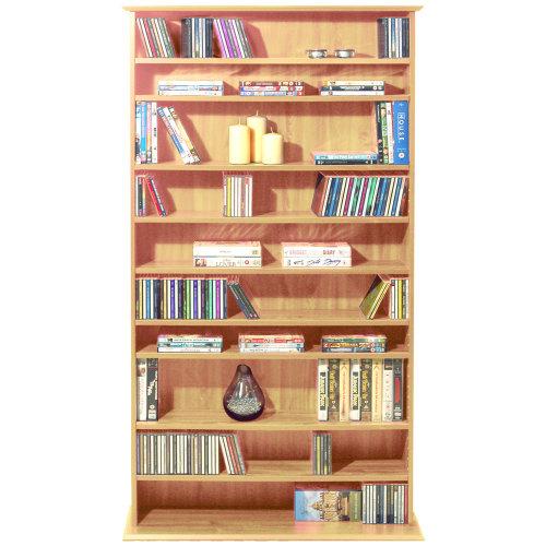 HARROGATE - 760 CD / 318 DVD / Blu-ray Media Storage Shelves - Pine