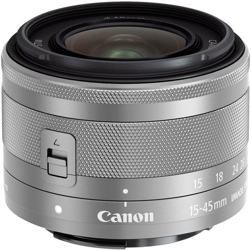 CANON EF-M 15-45mm F3.5-6.3 IS STM Silver (White Box)