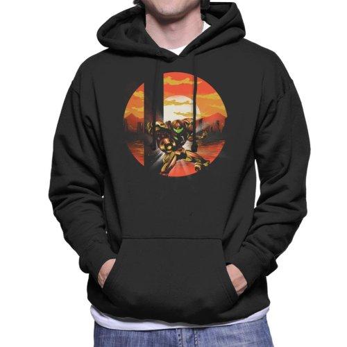Super Smash Bros Samus Metroid Men's Hooded Sweatshirt