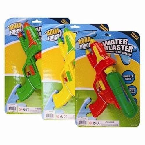 Children Kids Double Tank Water Blaster Soaker Gun Summer Outdoor Toy Gift Fun