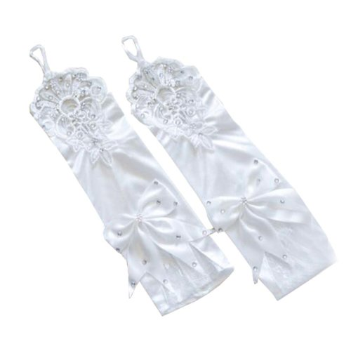 Women's Evening Party Lace Finger Gloves(Short) Gloves For Wedding Prom Party,A8