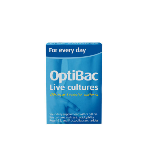 OptiBac For Every Day - Natural 5 Billion CFU Multi-Strain Formula - 30 Capsules