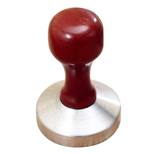 Stainless Steel Espresso Hand Tamper Flat Base 58mm [Wooden-1]