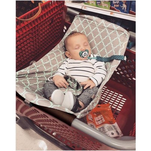 Baby Shopping Cart Hammock Cart Cover for NewbornToddler and Twins Gery