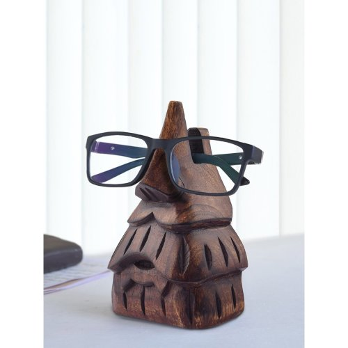 Decorative Eyeglass Spectacle Holder Wooden Display Stand Home Office Desk Decor Accessory