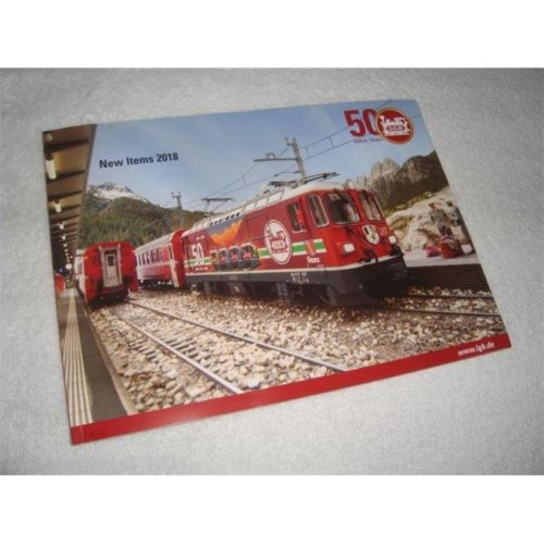 LGB LGB298062 2018 New Items 50th Anniversary Mini Color Catalog, 48 Pages