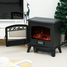 Homcom 900/1800W Electric Fireplace Log Burn Effect Portable Heater