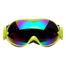 Ski Goggles Colorful Coated Lens Dual-layers Goggles for Adult, Green