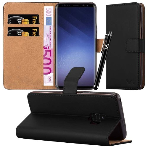 For Galaxy S9 Plus Leather Wallet Case Cover