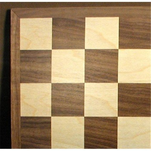 15 in. Walnut-Maple Chess Board