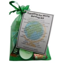 Travelling the World Survival Kit Gift | Travel Keepsake Gift
