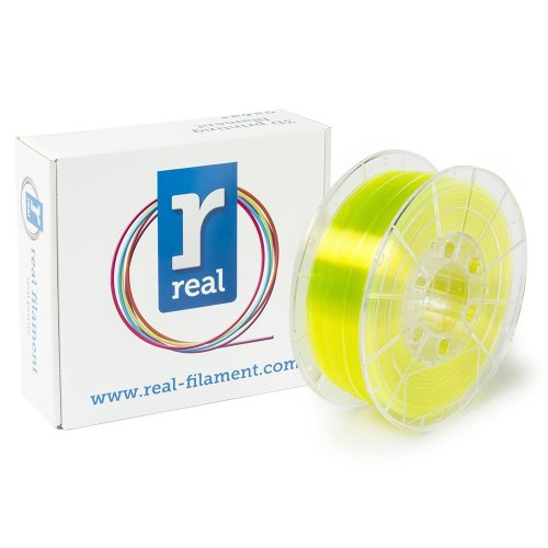 Real Filament 8719128327556 Real PETG, Spool of 1 kg, 1.75 mm, Transparent Yellow