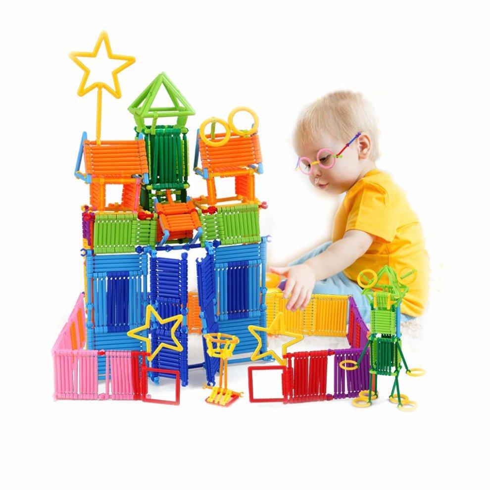 Zabawki konstrukcyjne Building Blocks Toys Lemical Construction Bars 500Pcs Early Development Toys 3D