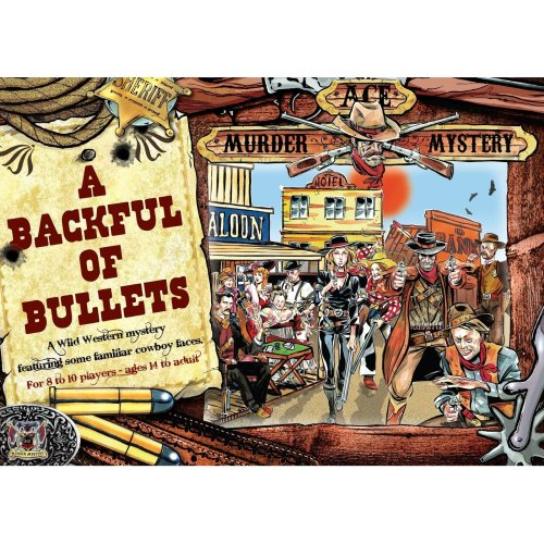 Ace COWBOY Murder Mystery Dinner Party Game : A Backful of Bullets