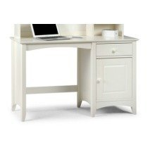 Treck White Stone Desk - 1 Door 1 Drawer - Fully Assembled Option Flat Pack Chair(+50) No Hutch