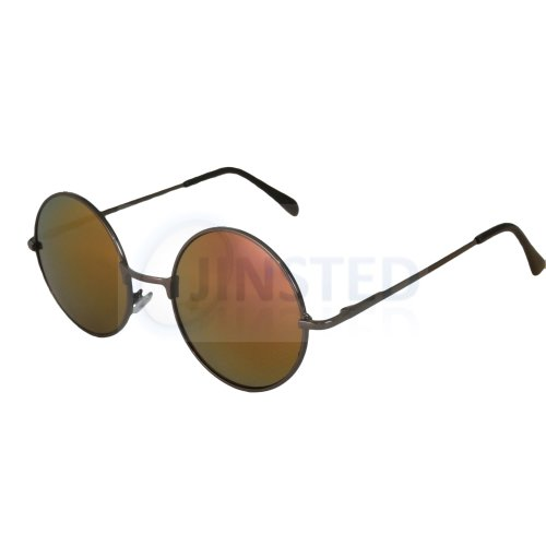 Red Gold Mirrored Teashades Sunglasses with Silver Frame SP007