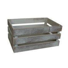 Medium Vintage Slatted Wooden Crate