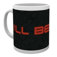The Terminator Be Back Text Mug