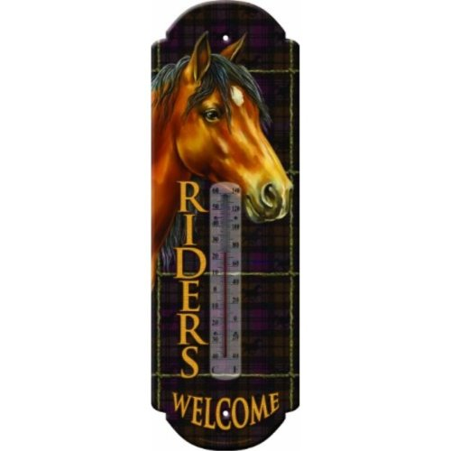 Rivers Edge Products Riders Welcome Tin Thermometer