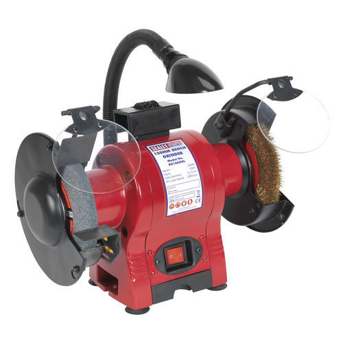 Sealey BG150XWL Diameter 150mm Bench Grinder & Wire Wheel Combination with Work Light 250W/230V