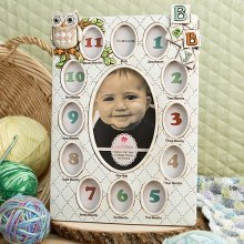 Baby's First Year Collage Frames - Owl Design Unisex
