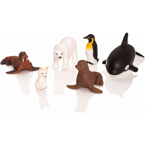 6pc Learning Minds Jumbo Polar Animals | Arctic Animal Figures