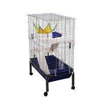 Pawhut Rabbit Guinea Pig Hutch House Run Cage 80(l) X 108(h) X 48(w)cm